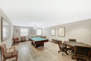 billiard and activity room