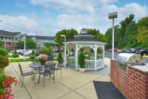 outdoor gazebo and seating areas